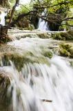 普利特维采湖群国家公园风景 图库摄影