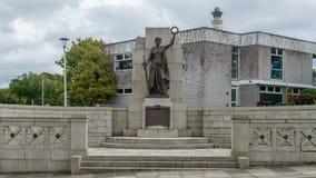 普利茅斯市战争纪念建筑A 免版税库存图片