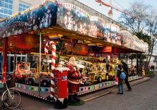 普利茅斯英国圣诞老人 免版税库存照片