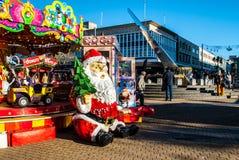 普利茅斯英国日规和圣诞老人 免版税库存照片
