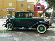 普利茅斯1932年汽车式样PA 3小轿车在利马 库存照片