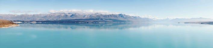 普卡基湖全景  免版税库存照片
