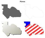普卢默斯县,加利福尼亚概述地图集合 库存照片