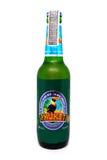 普吉岛在白色背景隔绝的储藏啤酒 普吉岛啤酒是一个品牌在泰国 库存照片