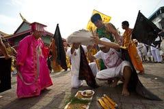 普吉岛泰国素食主义者节日 库存照片