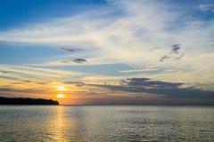 普吉岛西海岸在夜间 免版税库存图片