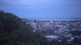 普吉岛观点从范围小山,泰国的 股票视频