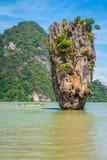 普吉岛詹姆斯庞德海岛Phang Nga 免版税库存照片