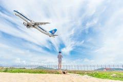 普吉岛,泰国- 2017年10月23日:中国南空中客车 库存照片