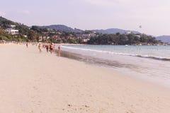 普吉岛,泰国- 2018年3月15日:` Kata Noi `海滩,普吉岛,泰国 免版税图库摄影