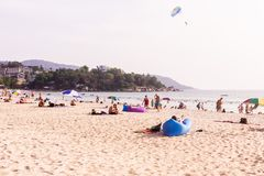 普吉岛,泰国- 2018年3月15日:` Kata Noi `海滩,普吉岛,泰国 图库摄影