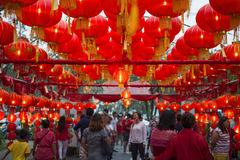 普吉岛,泰国- 2016年2月8日:中国灯笼 免版税库存图片
