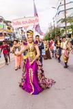 普吉岛,泰国- 2016年8月26日:作为leade的未认出的美丽的女孩 免版税库存照片