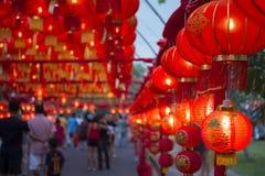 普吉岛,泰国- 2016年2月8日:在灯会的中国灯笼 库存图片