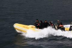 普吉岛,泰国- 1月05 :使海皮船2015年1月05日的游览小船亚洲环境美化 免版税库存照片