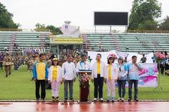 普吉岛,泰国- 7月13 :逐年竞技开幕式  免版税库存照片