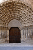 普埃尔塔del Juicio,图德拉, Navarra大教堂  库存照片