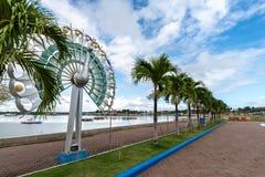 普埃尔托普琳塞莎市的,巴拉旺岛Baywalk公园 免版税库存图片