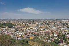 普埃布拉市视图,墨西哥 库存图片