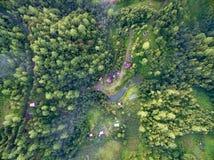 普埃布拉森林和山 免版税库存图片