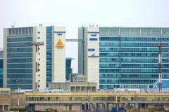 普尔科沃天空大厦在圣彼德堡,俄罗斯把B商业中心分类 免版税库存图片