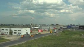 普尔科沃机场在圣彼德堡 4K 影视素材