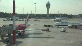 普尔科沃机场在圣彼德堡 4K 股票视频