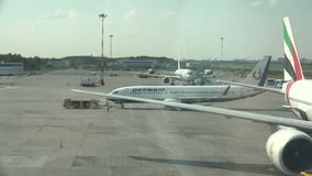 普尔科沃机场在圣彼德堡 4K 库存例证