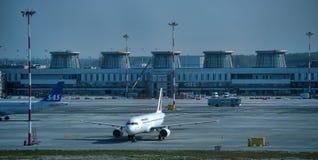 普尔科沃机场 免版税库存照片
