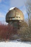 普尔科沃观测所的亭子望远镜 圣彼德堡 库存照片