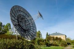普尔科沃观测所的天线无线电望远镜在圣彼得 库存照片