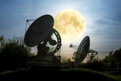 普尔科沃观测所的天线无线电望远镜在圣彼得 库存图片