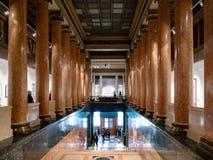 普希金状态博物馆门厅在莫斯科 库存图片
