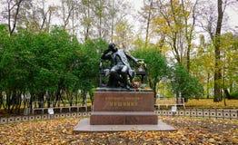 普希金纪念碑在圣彼得堡,俄罗斯 免版税库存图片