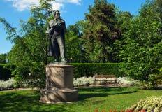 普希金纪念碑在布尔加斯 库存图片