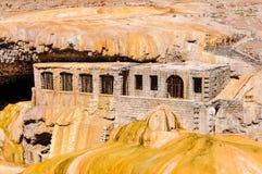 普恩特del Inca,在Mendoza,阿根廷附近的安地斯 库存图片