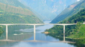 普恩特El Tablazo - Tablazo桥梁 免版税库存照片