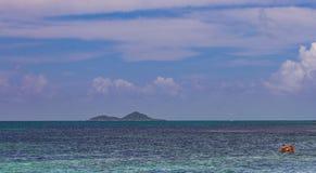 普拉兰岛,塞舌尔群岛雄伟假日目的地 库存图片