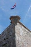 普拉城堡在克罗地亚 库存照片