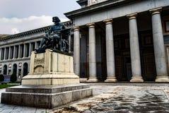普拉多博物馆的主要门面 图库摄影