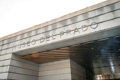 普拉多博物馆的现代入口在马德里,西班牙 库存照片