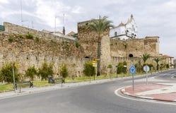 普拉森西亚,卡塞里斯,西班牙城市墙壁  图库摄影