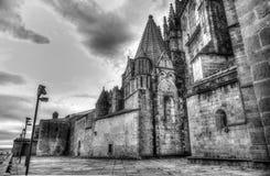 普拉森西亚,西班牙老罗马式大教堂  免版税库存照片