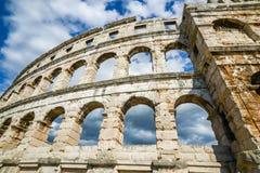 普拉的克罗地亚古老圆形剧场 免版税库存图片
