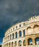 普拉的克罗地亚古老圆形剧场 库存图片