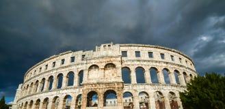 普拉的克罗地亚古老圆形剧场 免版税库存照片