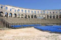 普拉的克罗地亚圆形剧场 库存图片