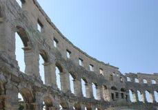 普拉的克罗地亚圆形剧场 免版税库存照片