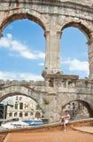 普拉的,克罗地亚罗马圆形剧场 免版税库存照片