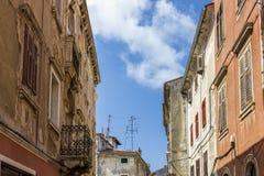 普拉的-克罗地亚老镇 库存图片